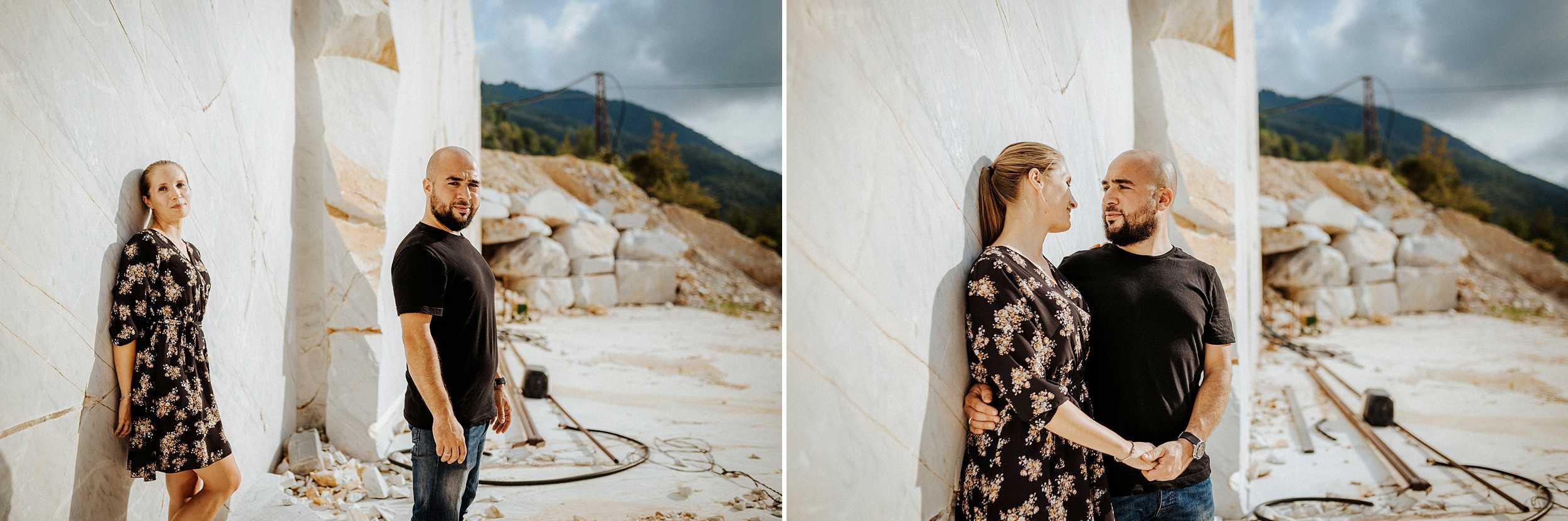 servizio di coppia cave di marmo bianco carrara